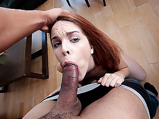 Spanish babe Amarna Miller gets a free meal via cum swallowing